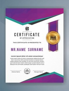 Certificate Of Achievement Template, Certificate Design Template, Printable Certificates, Gift Certificate Template, Business Flyer, Business Design, Star Template Printable, Certificate Of Appreciation, Brochure Design