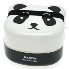 Kotobuki 2 Tiered Panda Face Bento Lunch Box for Dining and Storage New Lunch Box Bento, Lunch Boxes, Bento Lunchbox, Box Lunches, Bento Kids, School Lunches, Panda Face, Panda Bear, Japanese Bento Box