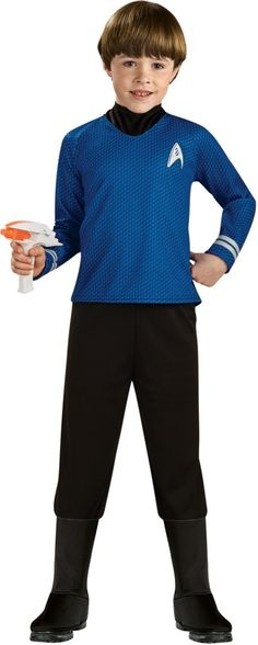 Click Image Above To Purchase Deluxe Kids Star Trek Blue Shirt Costume - Star Trek Costumes  sc 1 st  Pinterest & Star Trek Spock Kids Costume | Boys Halloween Costumes | Pinterest ...