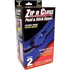 """2 Count 3"""" X 7' Zip N Close Doorway System ZC02 by Surface Shields. $19.81. ZC02 Features: -Doorway system.-Creates any size doorway with poly sheeting or canvas.-Controls dust.-Reduces heat loss.-Creates an instant entrance or exit to any closed area.-Meets federal containment specs for asbestos removal.-3'' x 7'.-2 count.. Save 29% Off!"""