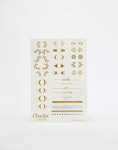 Orelia Gold Finger and Wrist Metallic Temporary Tattoos