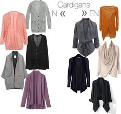 """Cardigans: N to FN"" by mpsakatrixie on Polyvore"