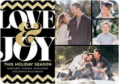 Glimmering Chevrons - Flat Holiday Photo Cards - simplyput by Ashley Woodman - Black : Front