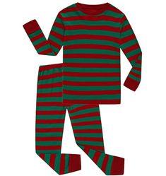 b49f033951 Family Feeling Striped Boys Girls 2 Piece Christmas Pajamas Set 100% Cotton