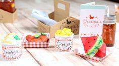 DOLL PICNIC PLAYSET DIY   How to make American Girl DOLL FOOD