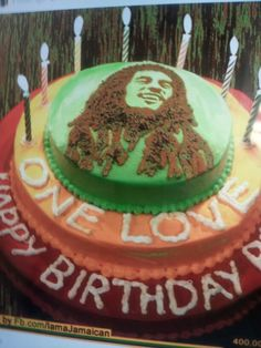 Bob Marley Cake Complete With Sugarpaste Spliff Paradise - Happy birthday bob cake