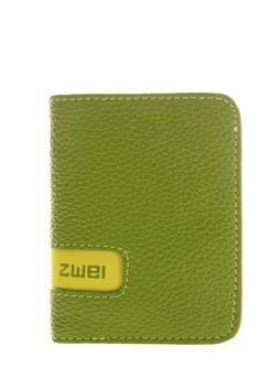 Geldbörsen :: WALLET :: W6 | ZWEI Taschen Kartenetui :: Leder :: grün