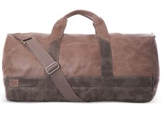 undefined Stone Leather Canvas Adventurer Duffel