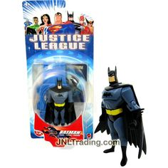 Mattel Year 2002 DC Comics Justice League Series 4-1/2 Inch Tall Action Figure - BATMAN with Display Base and Collectible Hologram Card