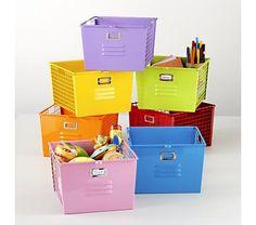 Kids Storage: Colorful Wire Mesh Locker Baskets