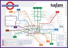 Digital Marketing Tube Map - A Guide to Internet Marketing | Hallam Internet