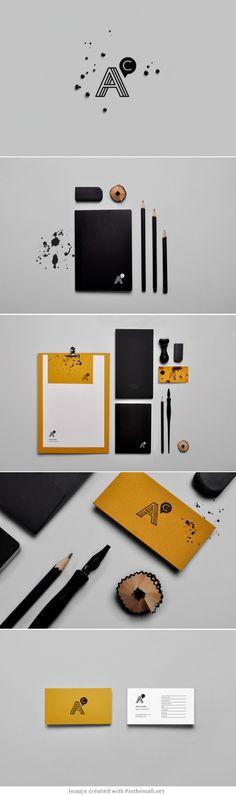 Corporate design letterhead letter business card logo envelop colors graphic ink