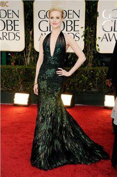 Evan Rachel Wood, Golden Globes. A bit pose-hard, but that DRESS!