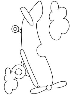 Airplane6 Transportation Coloring Pages