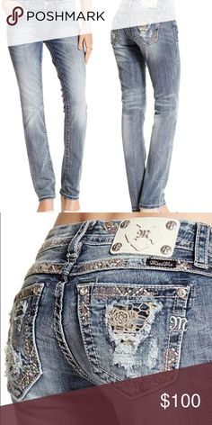 """NWT Miss Me Mid Rise Easy Straight Jeans Waist: 30.5"""" Hip: 39.25"""" Miss Me Jeans Boot Cut"""