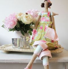 Tilda Kitchen Garden Angel, make with us project at Crumbly Cottage