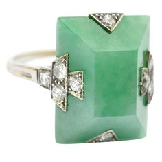 vintage mint blue-green cocktail ring