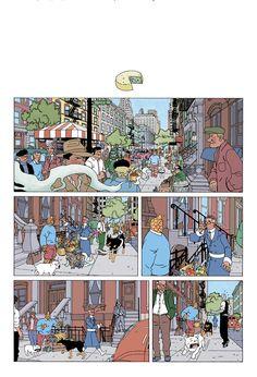 Gorgeous ligne claire Fantastic Four mashup by Dustin Weaver