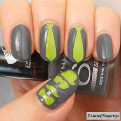 Painted Fingertips | Spy and Tie Nail Vinyls