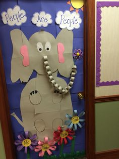 Horton hears a who door decoration for dr. Seuss week at school!!!