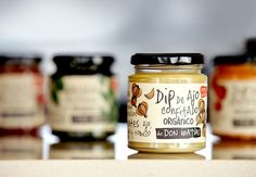 Who wouldn't want a taste of Don Matías' Pesto or Garlic dip? With such  inviting illustrations framing hand-written type, the brand emulates a  homemade quality, just how grandma used to make it.