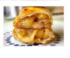 Corsica-Shop: Recipe, apples with honey filo pastry.