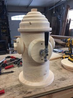 Wooden fire hydrants