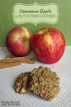 This recipe for Apple Cinnamon Lactation Cookies is full of whole oats, flax meal and brewer's yeast to support lactation and tastes delicious! This recipe for Apple Cinnamon Lactation Cookies is full of whole oats, flax meal and brewer's yeast to support Lactation Recipes, Lactation Cookies, Lactation Foods, Lactation Smoothie, Apple Recipes, Baby Food Recipes, Cooking Recipes, Milk Recipes, Dessert Recipes