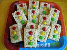 Krispie treats stop lights from the movie Cars....how cute!!!