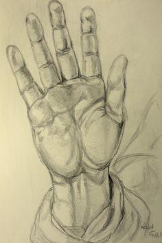 Desenho a lápis de grafite HB inspirado em trabalho de Raffaello Sanzio (Malay - 14/6/15)