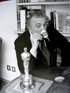 Federico Fellini 1957 Oscar winner for Best Director for The nights of Cabiria https://www.facebook.com/pages/Coffee-Society/651773478236556