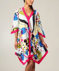 Love this Fuchsia & Blue Status Wrap Tunic by Aller Simplement on #zulily! #zulilyfinds