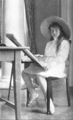 Grand Duchess Anastasia in Livadia, (Yalta) Crimea