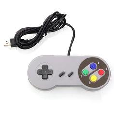 USB Controller Gaming Joystick Gamepad for Nintendo SNES for Windows PC MAC Free Shipping