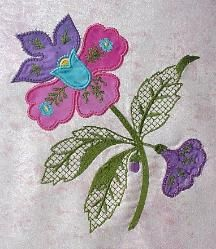 Embroidery Machine Applique Flowers