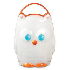 This friendly owl nightlight from Munchkin helps your little one feel secure and safe during the night. This adorable nightlight features an easy-grasp handle for portability and one-button operation for ease of use.