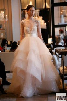 Long Sleeve Tulle Wedding Dress | You can find this at => http://feedproxy.google.com/~r/amazingoutfits/~3/t1wX-_OMaI4/photo.php