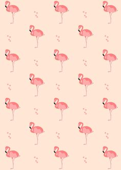 FREE printable flamingo pattern paper | #pinkflamingo