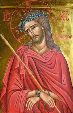 Il Nymphios o Ecce Homo Orthodox Catholic, Orthodox Christianity, Religious Images, Religious Art, Byzantine Icons, Orthodox Icons, Sacred Art, Religion, Faith