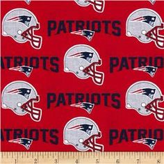 NFL Cotton Broadcloth New England Patriots Red Navy Quilting Frames dc7bbff1b