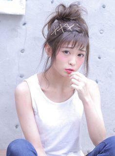 くずしするふわお団子アレンジ 【cache cache】 http://beautynavi.woman.excite.co.jp/salon/27988?pint ≪ #arrange #hairstyle・アレンジ・ヘアスタイル・髪形・髪型≫
