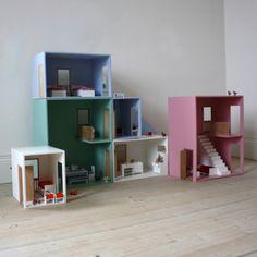 Maison de poupée design - Mezzanine - Bleu