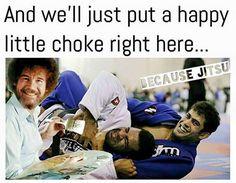 Happy little choke Martial Arts Quotes, Martial Arts Workout, Boxing Workout, Bjj Memes, Memes Humour, Jokes, Ju Jitsu, Funny Picture Quotes, Brazilian Jiu Jitsu