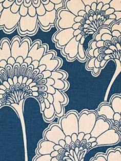 - 'Japanese Floral' Textile by Signature Prints