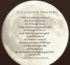 Cleansing Prayer – Witches Of The Craft® Sage Cleansing Prayer, Soul Cleansing, Spiritual Cleansing, Smudging Prayer, Sage Smudging, Wiccan Spell Book, Spell Books, Full Moon Ritual, Under Your Spell