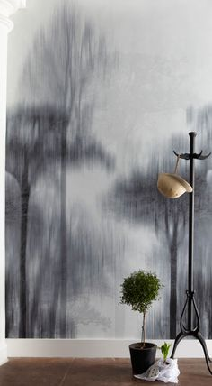 I think I'm in love with this wallpaper (a rainy London day...) trove - nyx wallpaper detail