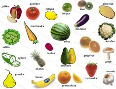 Polish vocabulary Owoce i warzywna / Fruit and vegetables
