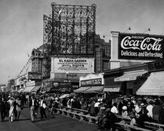 Atlantic City Boardwalk NJ Coca Cola Sign 1920s Photo Here is a neat collectible from Atlantic City NJ at Kentucky Avenue and Boardwalk 1920s, featuring a Coca Cola Advertising Billboard. This is an e