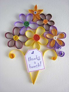Quilling card design ideas - bunch of flowers