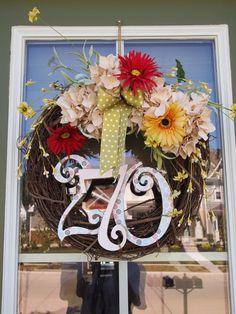 House Number Wreath idea